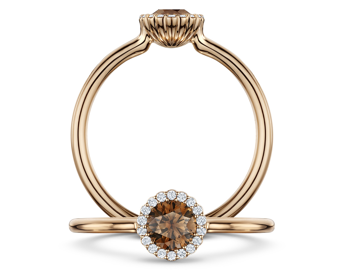 Andrew Geoghegan Chocolate Cannelé Ring at Phillip Stoner The Jeweller
