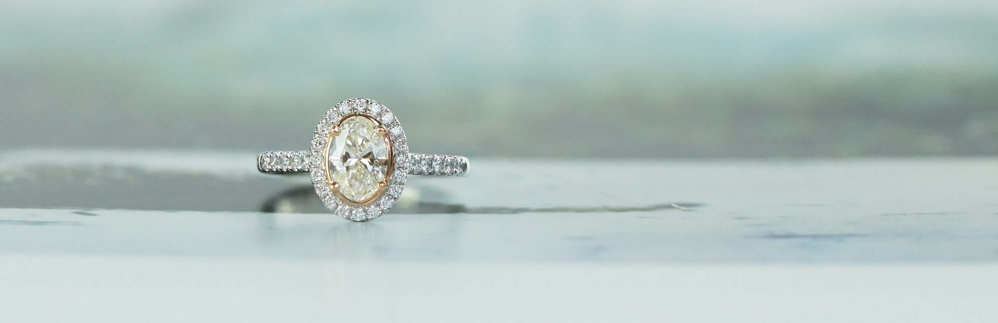 Oval Diamond Engagement Ring from The Blush Collection