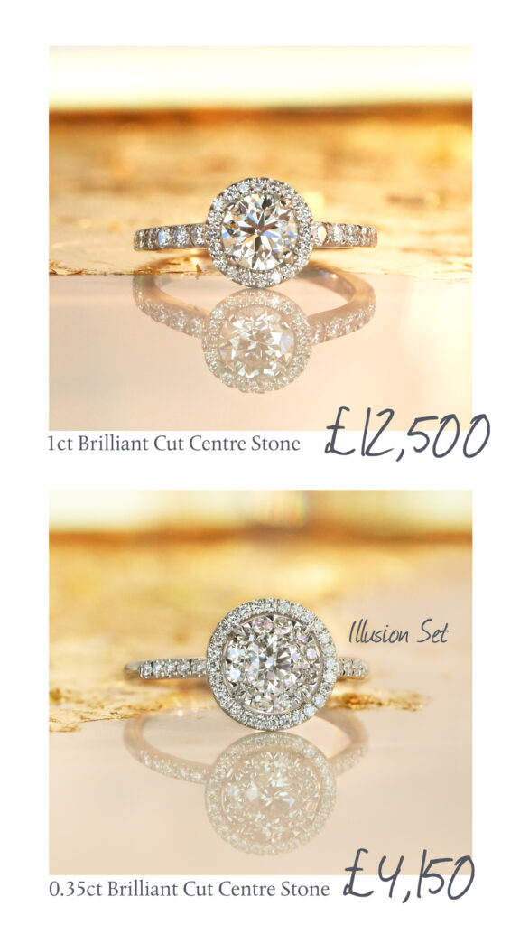 Illusion Set Diamond Cluster Engagement Ring, Phillip Stoner The Jeweller in Leeds & Manchester
