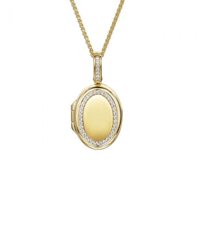 Luxury Yellow Gold Diamond Locket