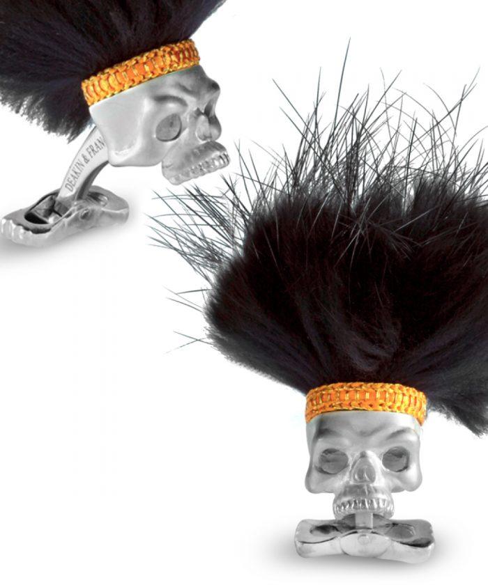 Deakin & Francis Savage Skull Cufflinks