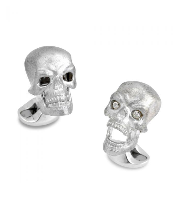 Deakin & Francis Silver Skull Cufflinks