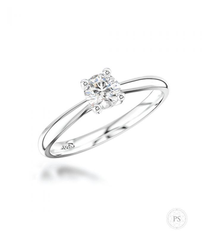 0.20ct Delicate Round Diamond Engagement Ring