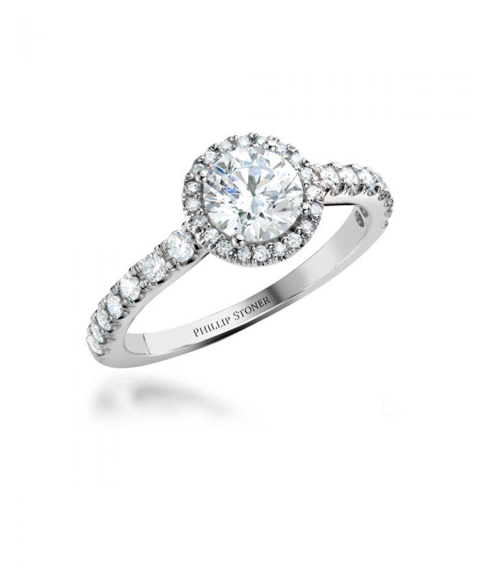 0.50ct Round Brilliant Diamond Thea Ring - Platinum