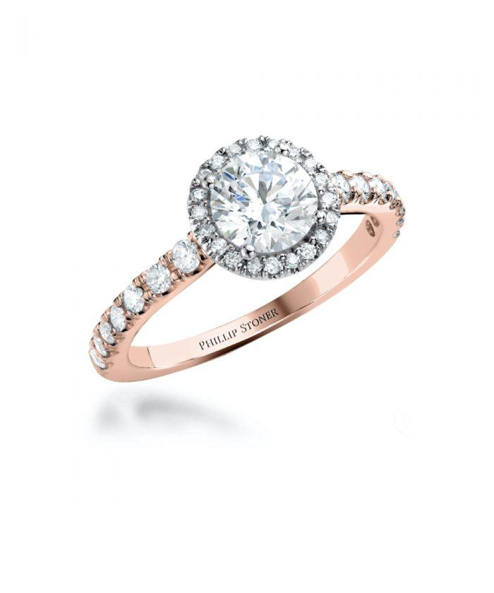 0.70ct Round Brilliant Diamond Thea Ring - 18ct Rose Gold & Platinum
