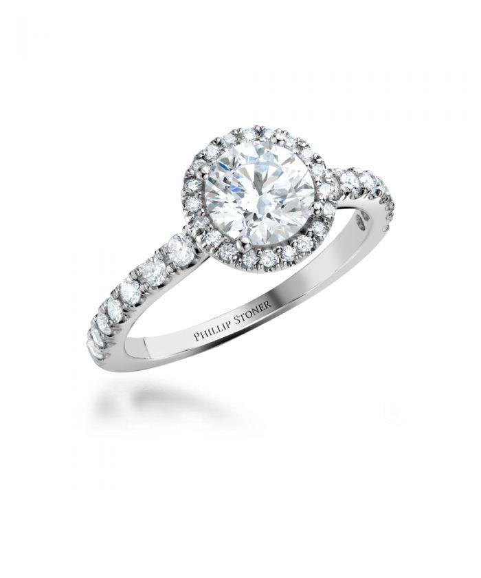 1ct Round Brilliant Diamond Thea Ring - Platinum