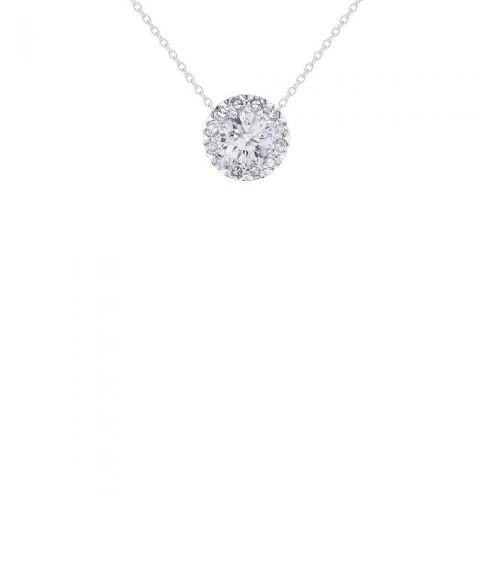 Allium Platinum Diamond Rosebud Pendant
