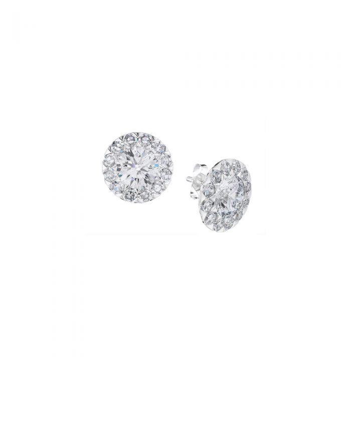 Allium Rosebud Diamond Stud Earrings