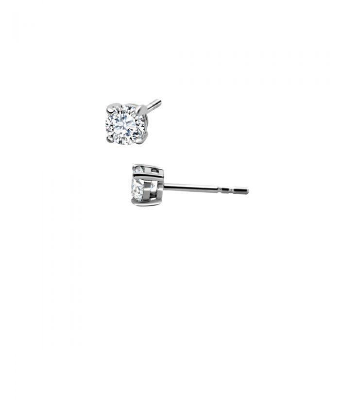 Basket Set Diamond Stud Earrings