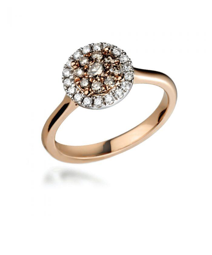 Champagne Diamond Illusion Cocktail Ring