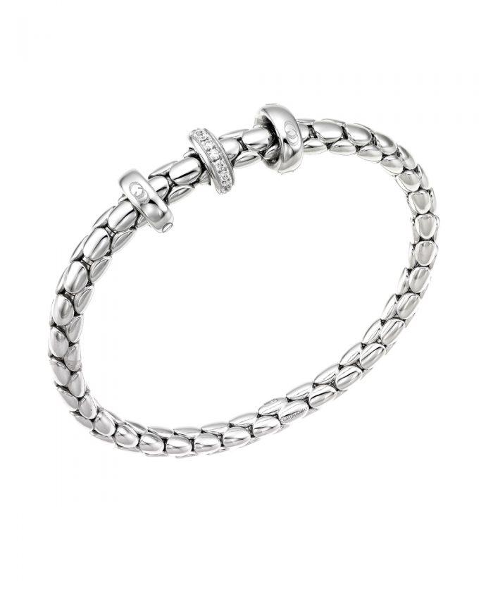 Chimento White Gold Diamond Spring Stretch Bracelet
