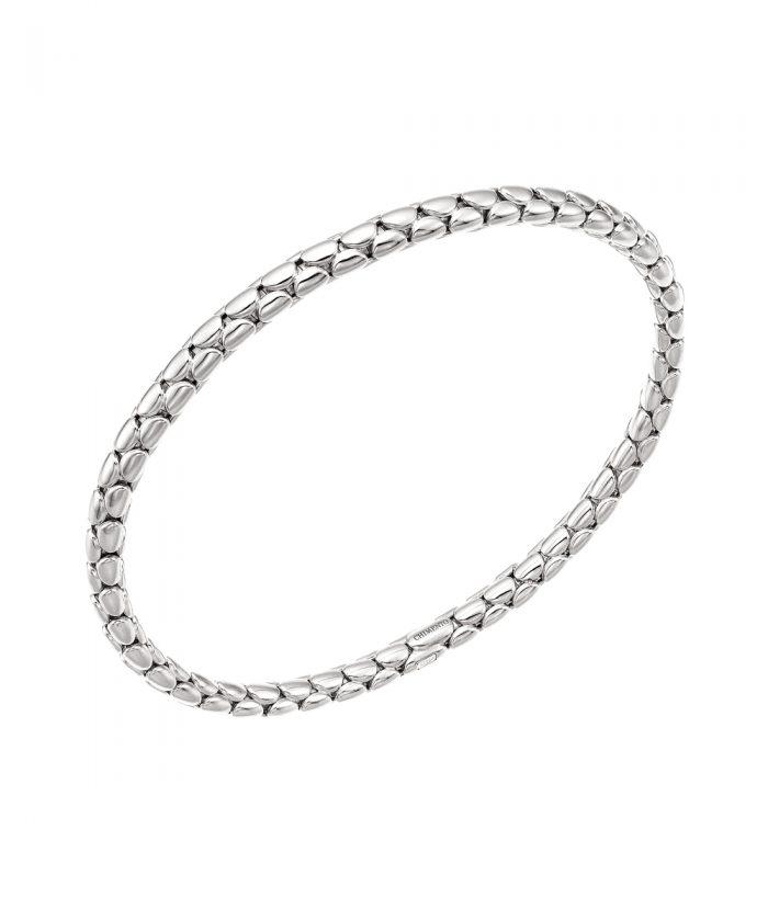 Chimento White Gold Slim Spring Stretch Bracelet