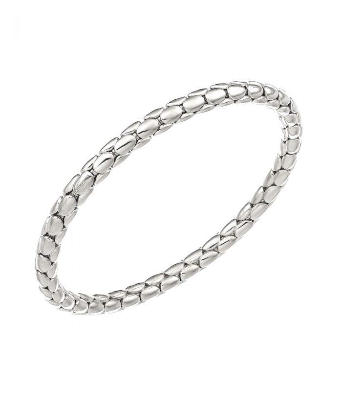 Chimento White Gold Spring Stretch Bracelet
