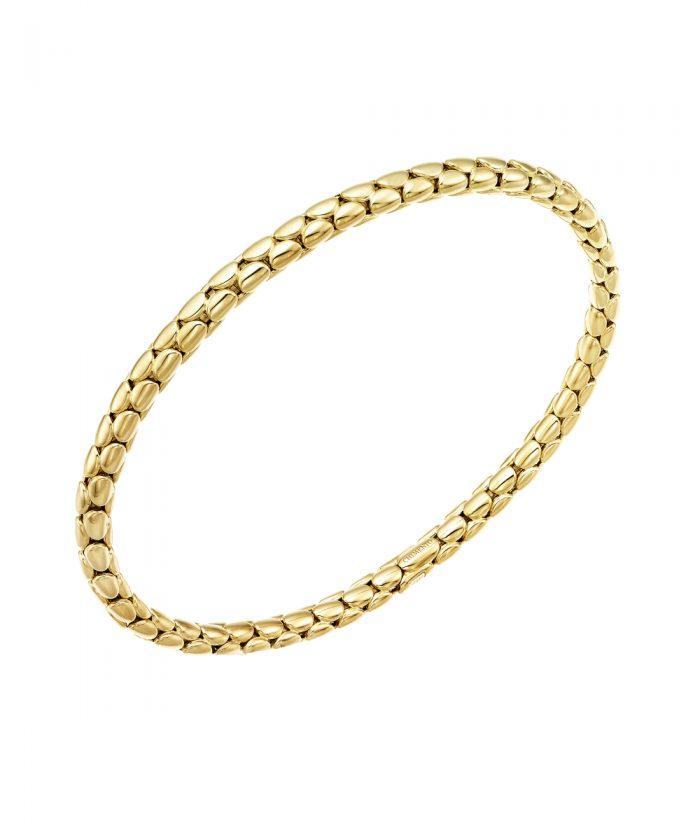 Chimento Yellow Gold Slim Stretch Bracelet
