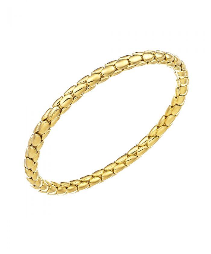 Chimento Yellow Gold Spring Stretch Bracelet
