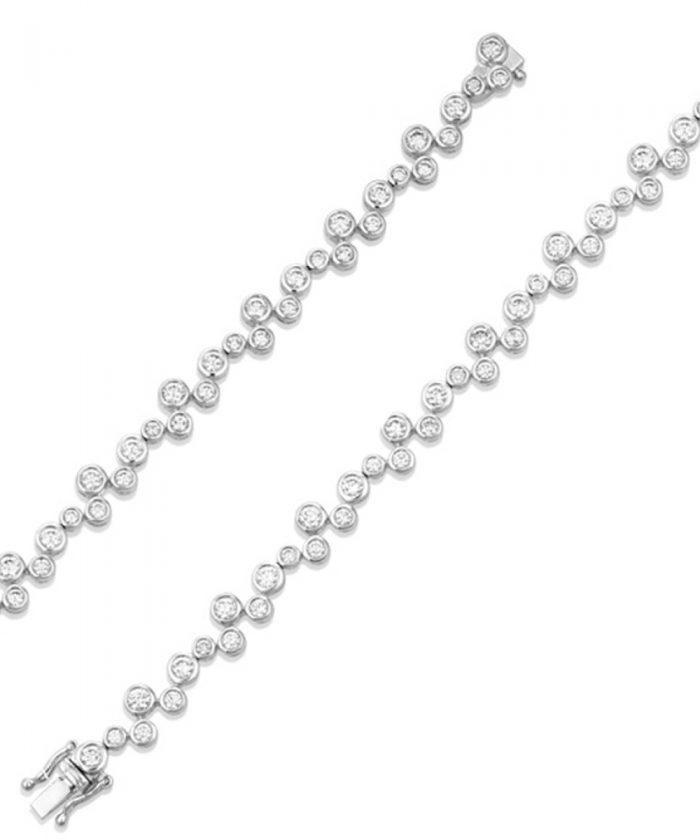 Cascade Diamond Line Bracelet