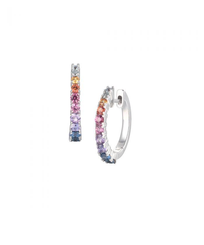 Fancy Sapphire Hoop Earrings