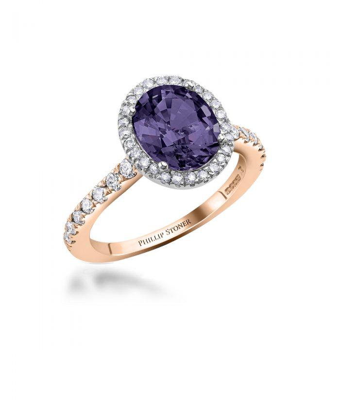 Iolite & Diamond Thea Cocktail Ring