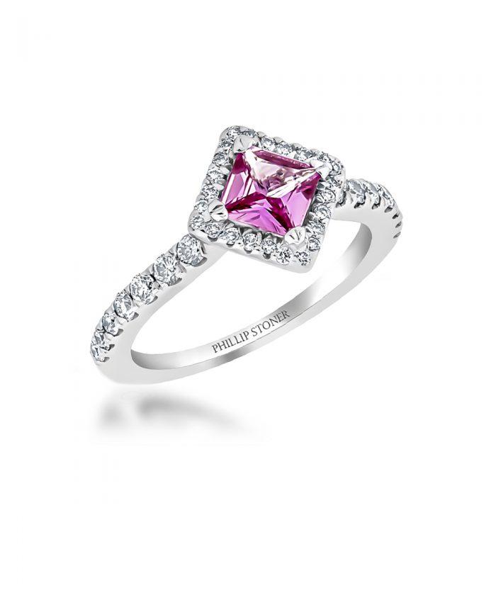 Pink Sapphire & Diamond Cocktail Ring