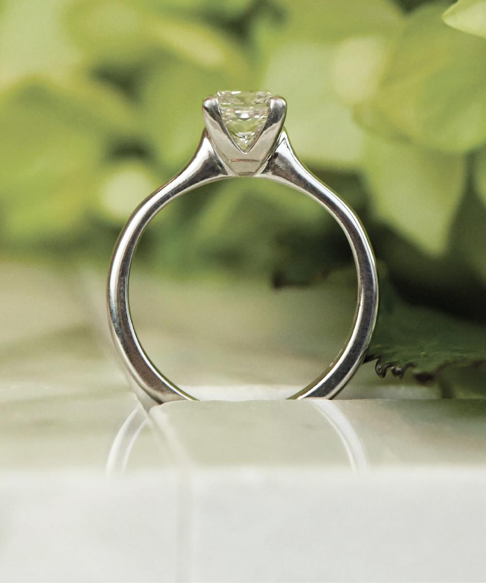 Princess Cut Single Stone Engagement Ring