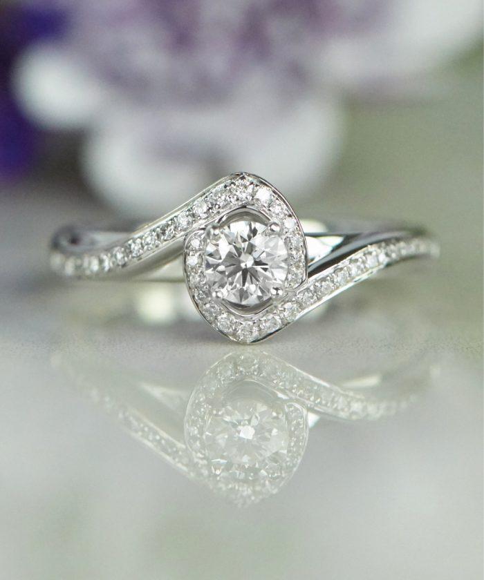 Sarah Ho Diamond Halo Engagement Ring