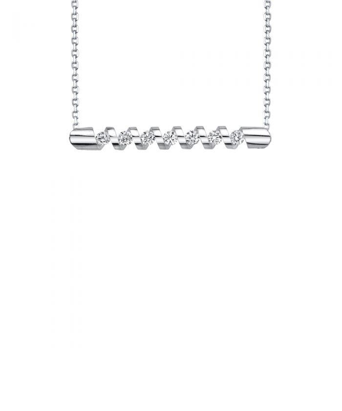 Sirena Diamond Corkscrew Pendant