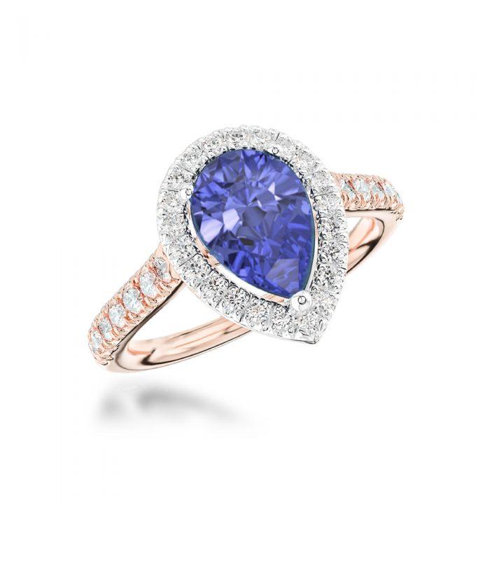 Tanzanite & Diamond Thea Cocktail Ring