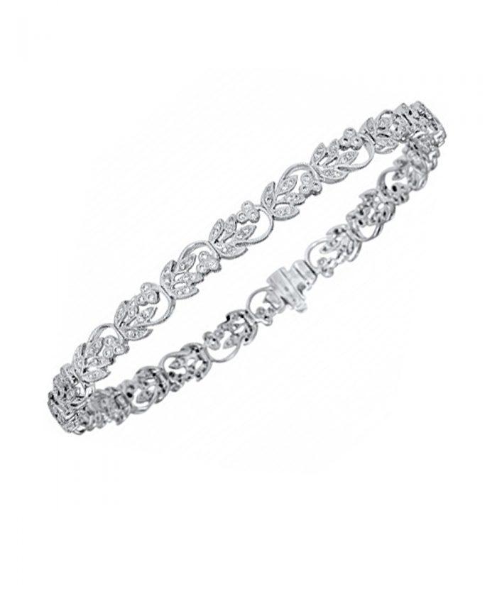 Ungar & Ungar Floral Diamond Line Bracelet