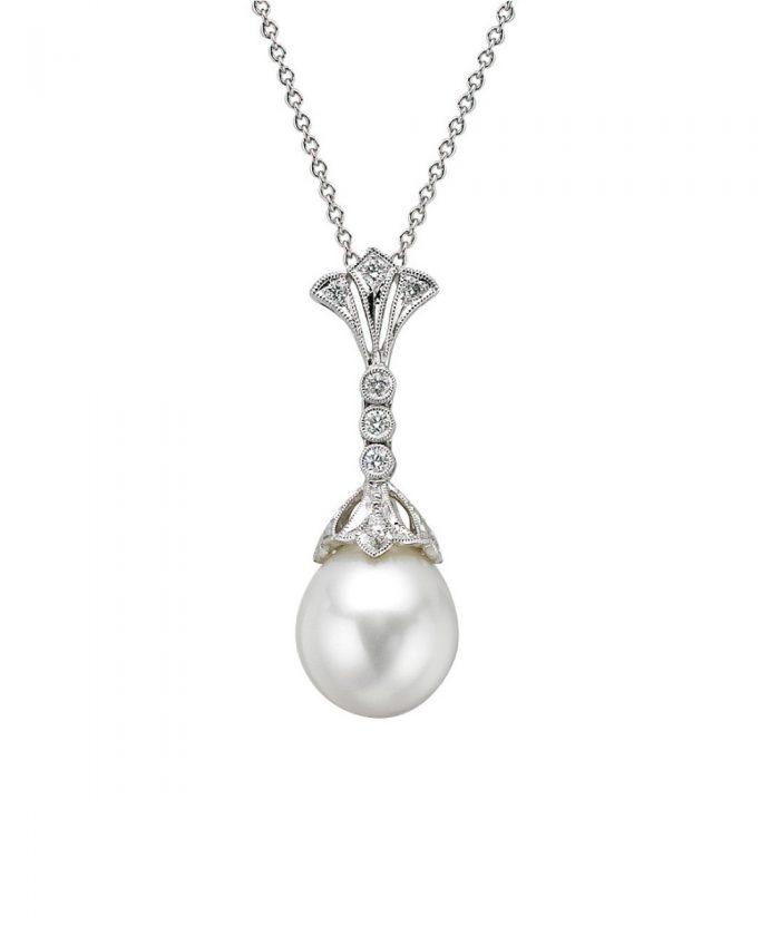 Ungar & Ungar Pearl & Diamond Duchess Pendant