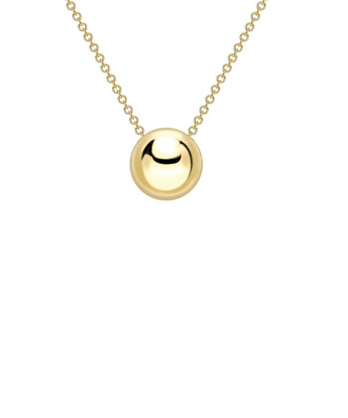 Yellow Gold Bead Charm Pendant
