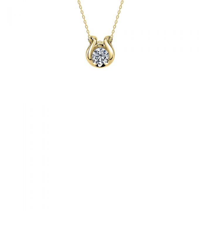 Sirena Yellow Gold Horseshoe Diamond Pendant