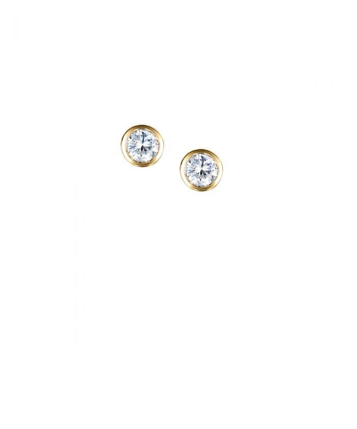 Yellow Gold Rubber Diamond Studs