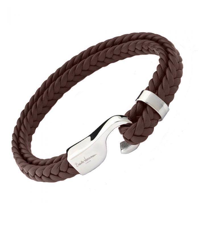 Babette Wasserman Brown Marine Leather Bracelet