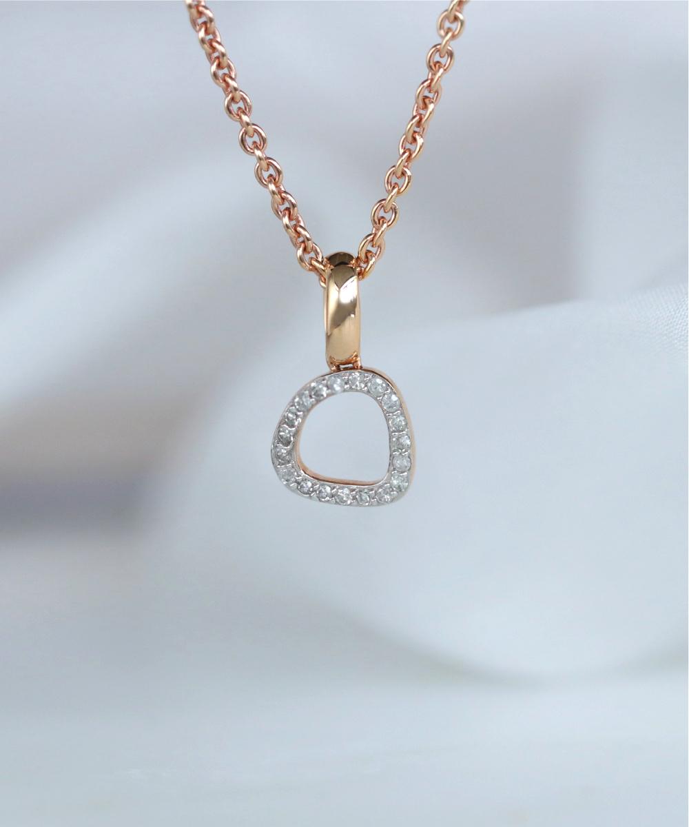 Rachel Galley Rose Gold Diamond Versa Pendant