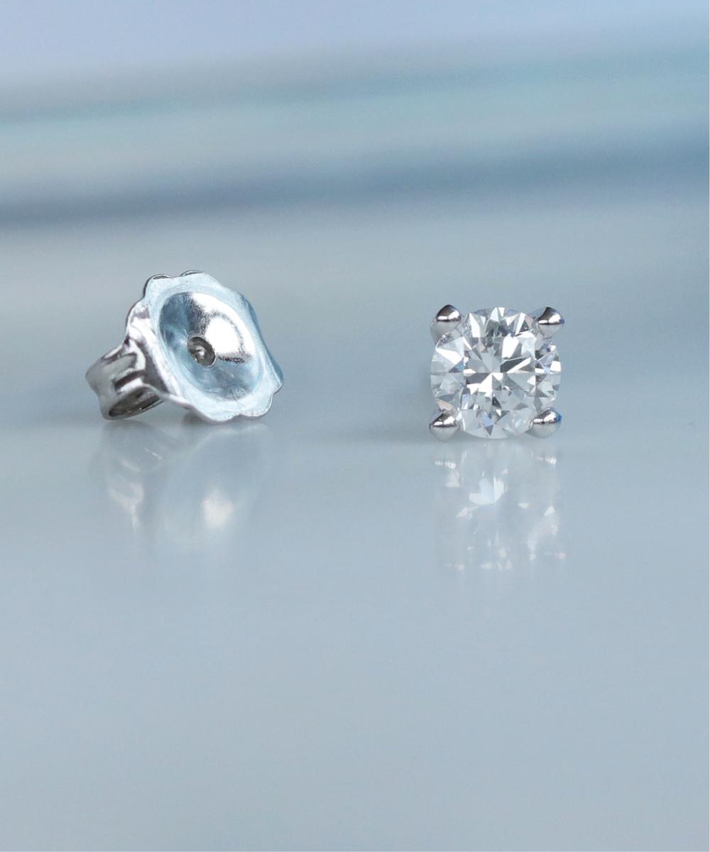 Single Round Brilliant Cut Diamond Stud