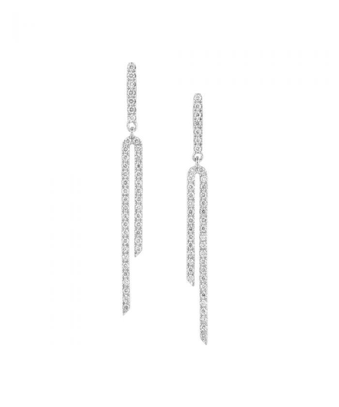 White Gold & Diamond Drop Earrings