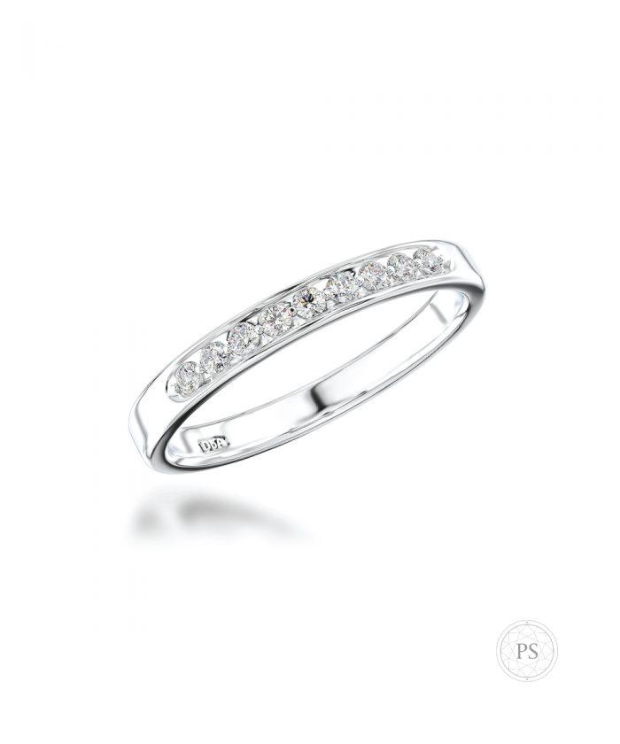 0.14ct Slim Diamond Set Wedding Band