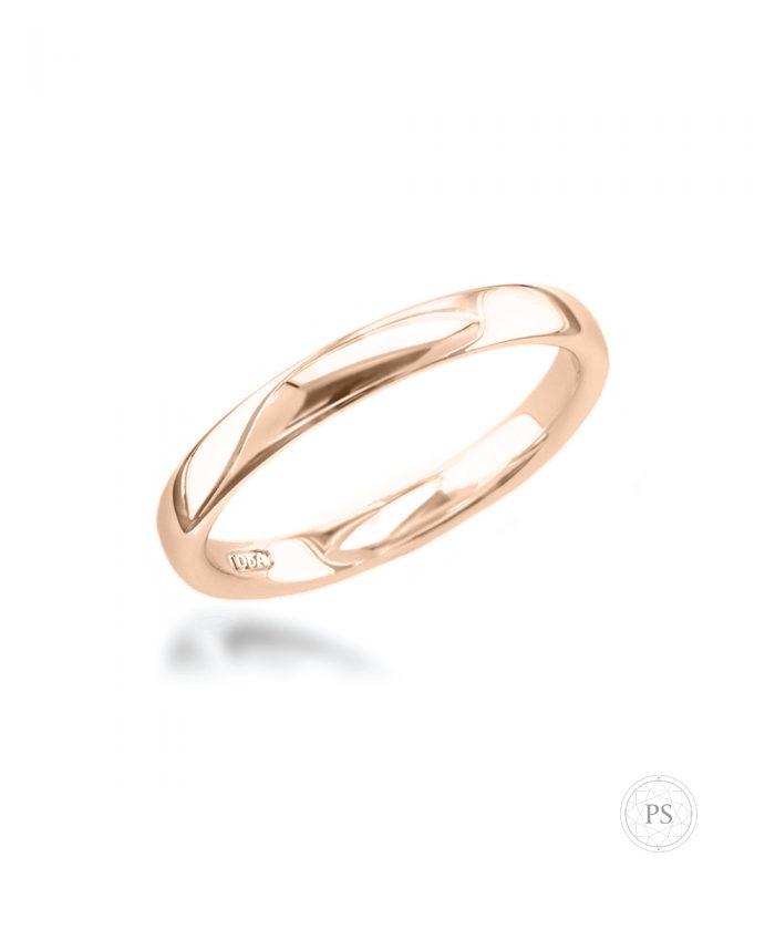 3mm 18ct Rose Gold Wedding Band