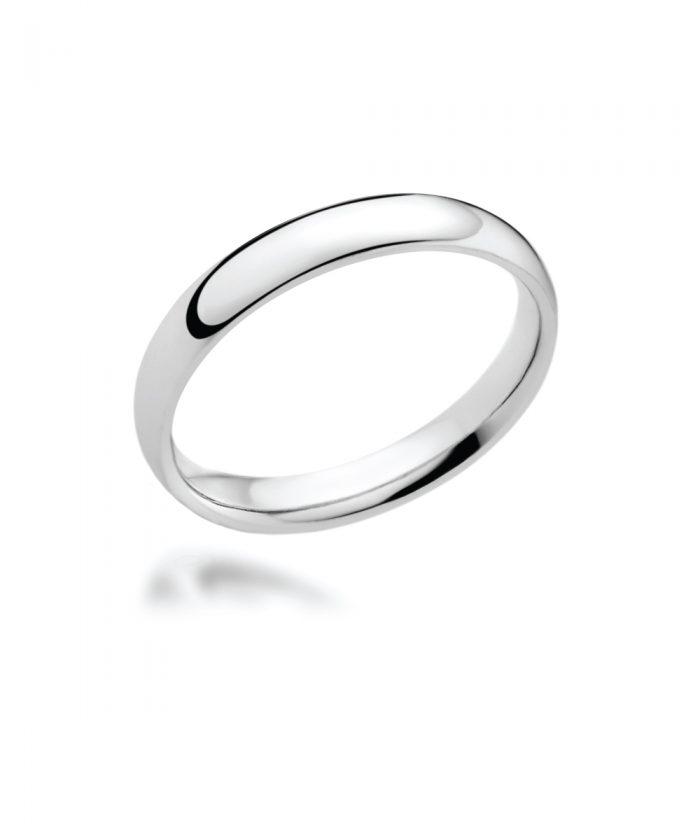 3mm Platinum Court Shaped Wedding Band