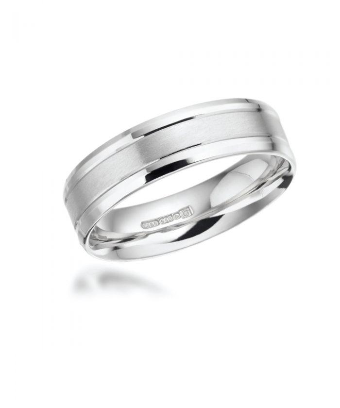 5mm Matt Gents Wedding Band with Polished Edges