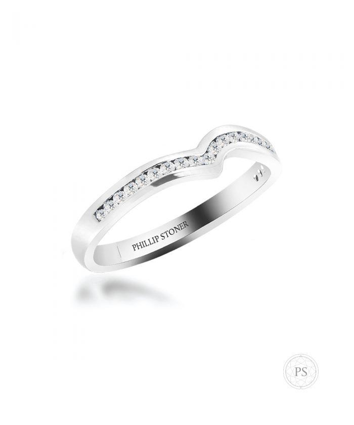 Platinum Channel Twist Shaped Wedding Band
