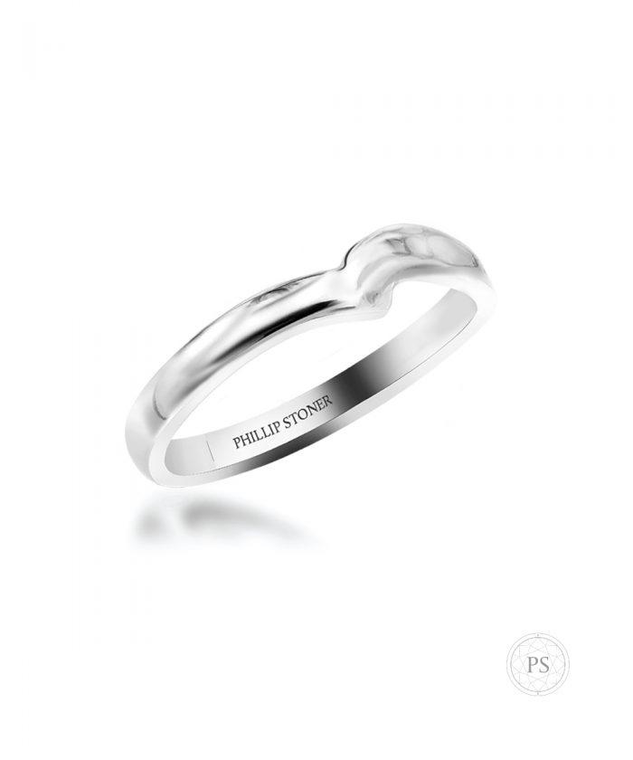 Platinum Twist Shaped Wedding Band