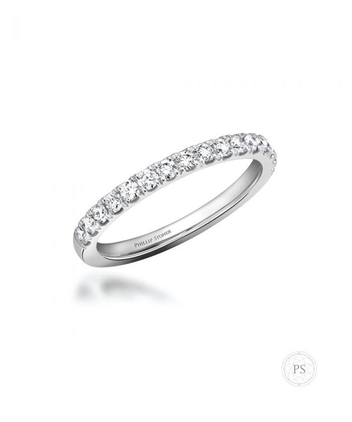 Thea Platinum Diamond Set Wedding Band