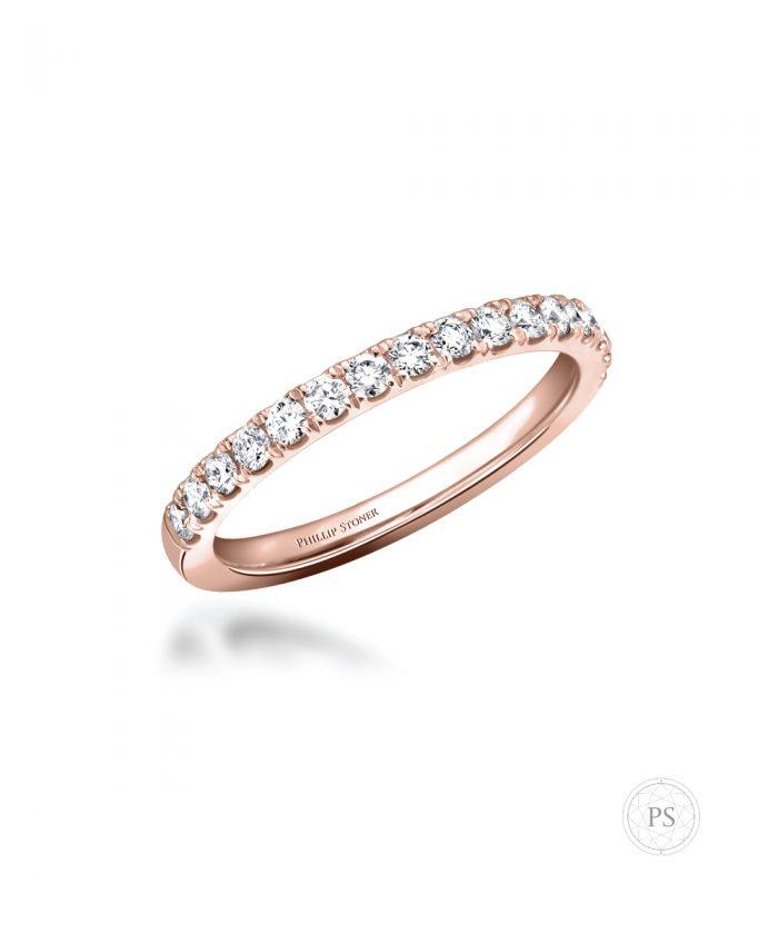 Thea Rose Gold Diamond Set Wedding Band