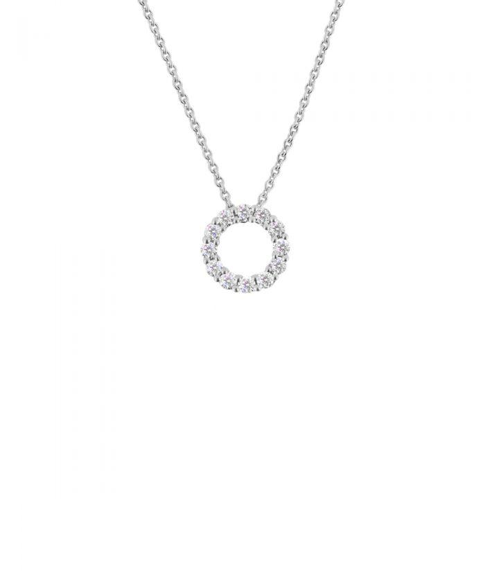 0.25ct White Gold & Diamond Circle Pendant