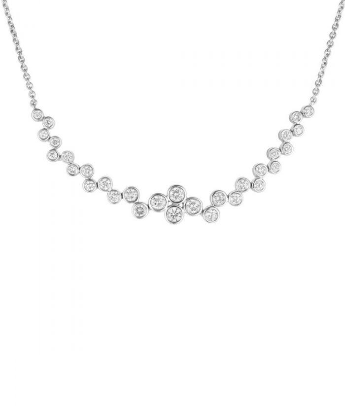 Cascade Diamond Line Necklace