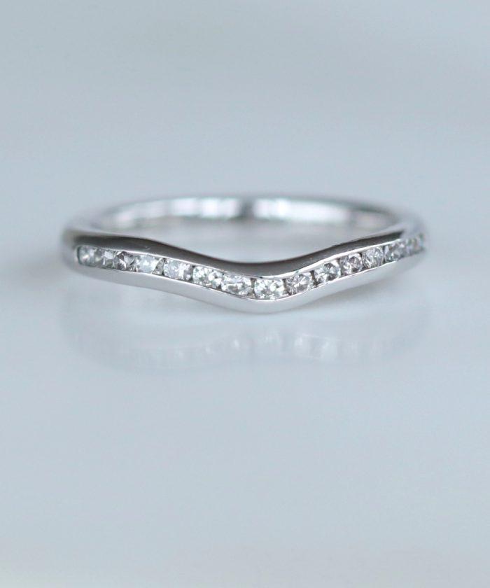 Channel Set Shaped Diamond Wedding Ring