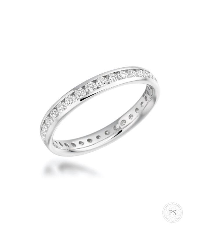 0.88ct Full Channel Set Diamond Eternity Ring