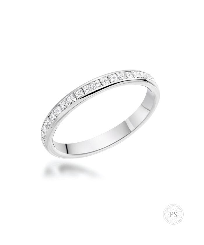 Luxury Princess Cut Diamond Eternity Ring