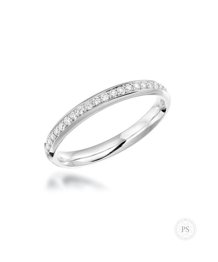 Luxury Rounded Pavé Set Diamond Wedding Ring
